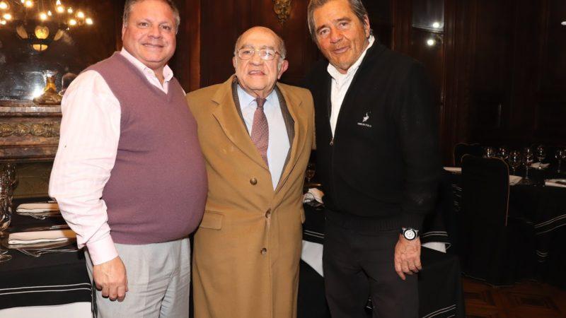 Sergio D'agostino, José Antonio Romero Feris y Lido González Noguera en el Club del Progreso