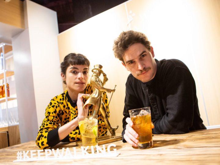 Malena Sánchez y Matias Mayer en el Highball Bar de Johnnie Walker en Masticar
