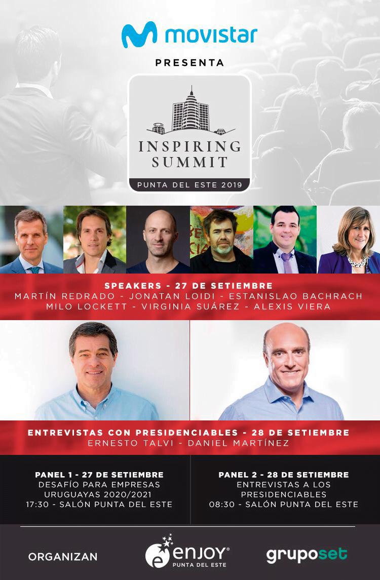 """""""Inspiring Summit"""" reúne a candidatos a la Presidencia de Uruguay en Enjoy Punta del Este"""