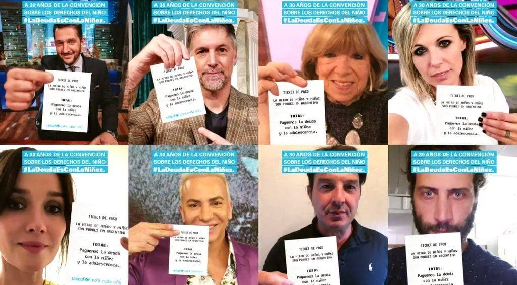 Más de 160 famosos se sumaron a la Campaña de UNICEF #LaDeudaEsConLaNiñez