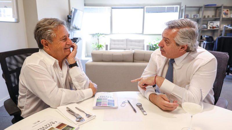 Alberto Fernández recibió al ex presidente Eduardo Duhalde