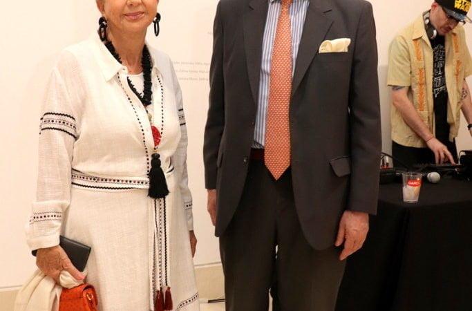 Leda Karagozian y José Luis Puricelli en el Museo de Arte Moderno de Buenos Aires
