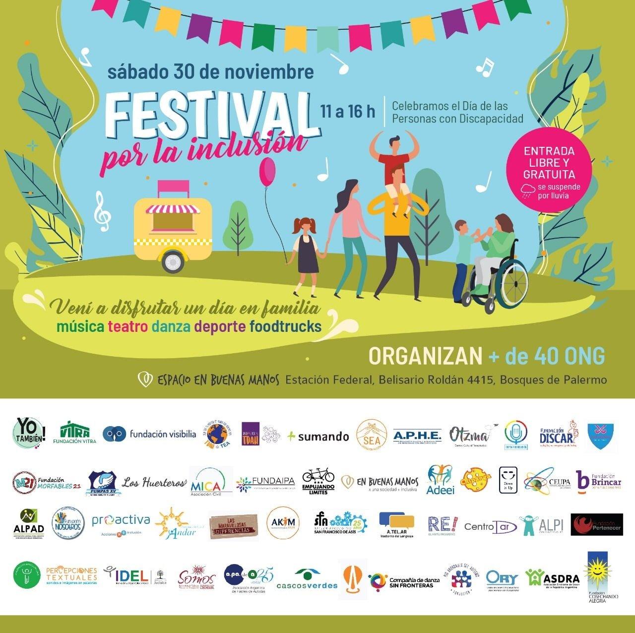Primer Festival por la inclusión de personas con discapacidad
