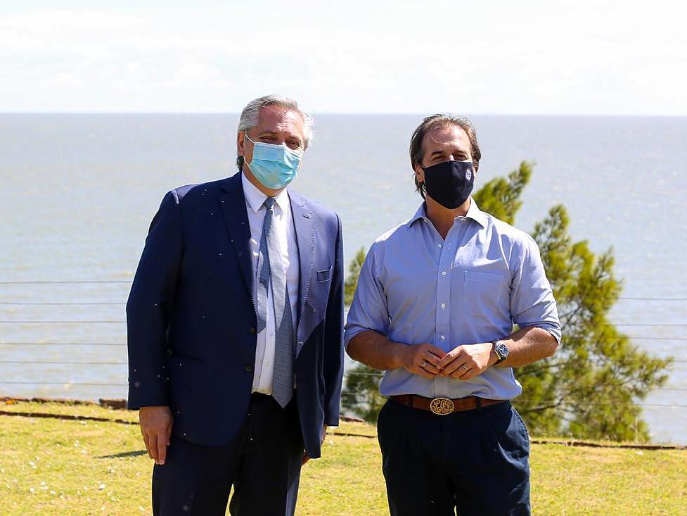 Alberto Fernández mantuvo un almuerzo de trabajo con su par uruguayo, Luis Lacalle Pou, en la residencia presidencial de Parque Anchorena